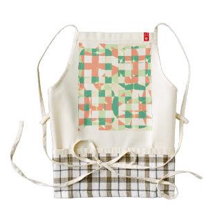 Checkered green and salmon zazzle HEART apron