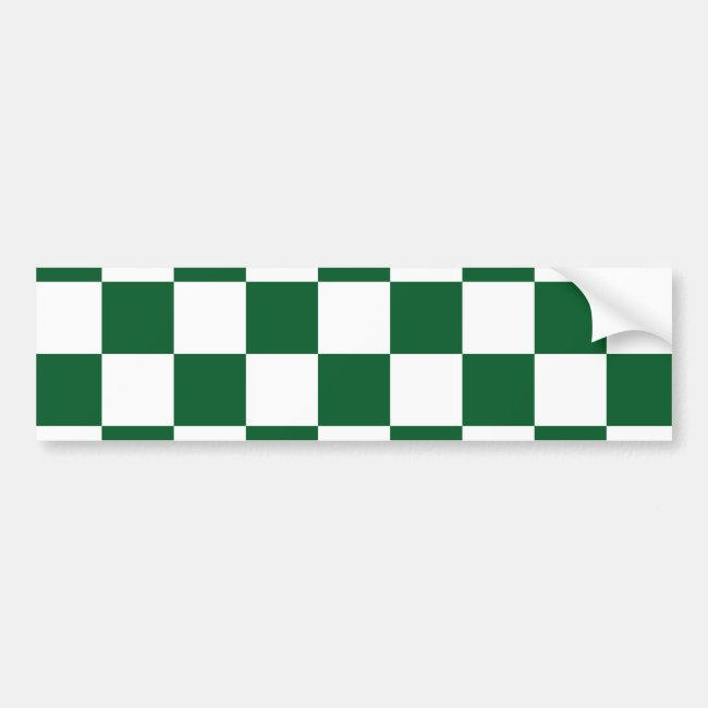 Checkered Green and White
