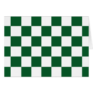 Checkered Green and White Card