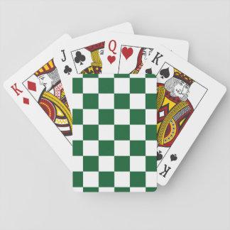 Checkered Green and White Card Decks