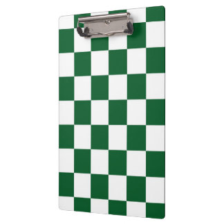Checkered Green and White Clipboard