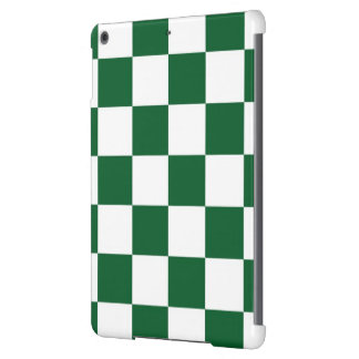 Checkered Green and White Cover For iPad Air