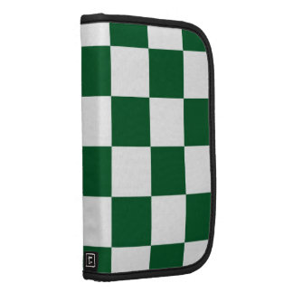 Checkered Green and White Folio Planner