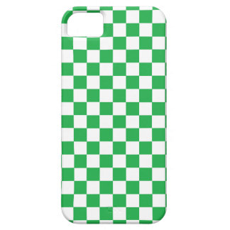 Checkered Green and White iPhone SE/5/5s Case