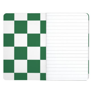 Checkered Green and White Journals
