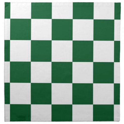 Checkered Green and White Napkin