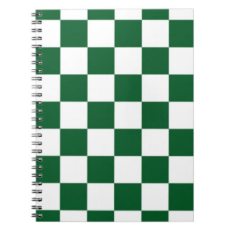 Checkered Green and White Notebook