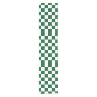 Checkered Green and White Table Runner Short Table Runner