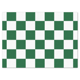 "Checkered Green and White Tissue Paper 17"" X 23"" Tissue Paper"