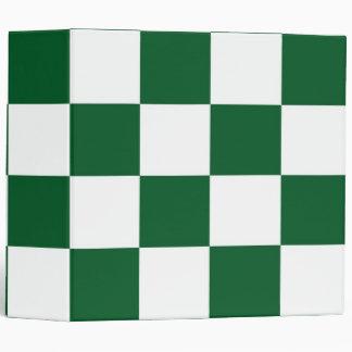 Checkered Green and White Vinyl Binders
