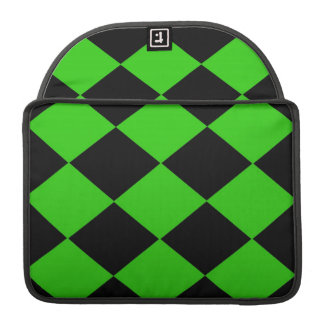 Checkered (Green & Black) Sleeve For MacBook Pro