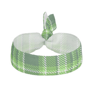 Checkered Green Color Pattern Elastic Hair Tie