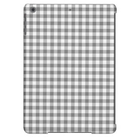 Checkered Grey and White Cover For iPad Air