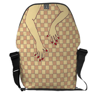Checkered Hands Courier Bag