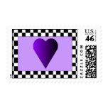 Checkered heart stamp