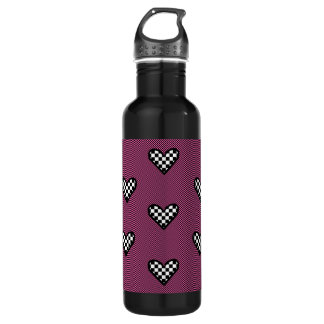 Checkered Hearts bottle