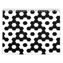 Checkered hexagons calendar