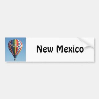 Checkered Hot Air Balloon New Mexico Car Bumper Sticker