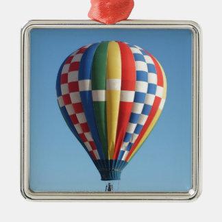 Checkered Hot Air Balloon New Mexico Metal Ornament