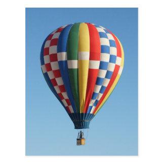 Checkered Hot Air Balloon New Mexico Postcard