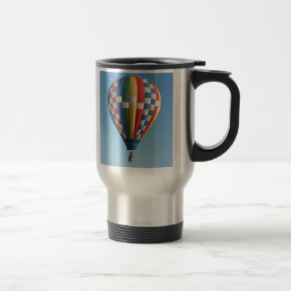 Checkered Hot Air Balloon New Mexico Travel Mug