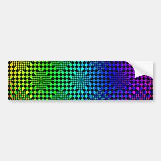 Checkered Illusion Bumper Sticker