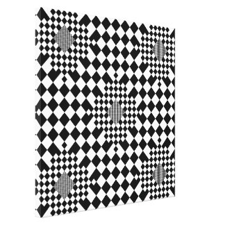 Checkered Illusion by Kenneth Yoncich Canvas Print