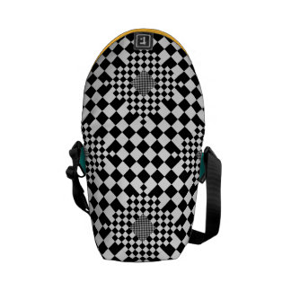 Checkered Illusion by Kenneth Yoncich Courier Bag