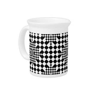Checkered Illusion by Kenneth Yoncich Drink Pitchers