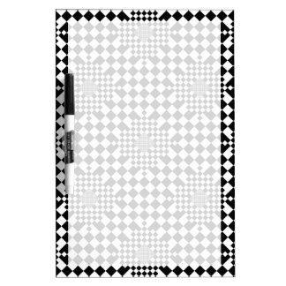 Checkered Illusion by Kenneth Yoncich Dry Erase Board