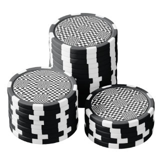 Checkered Illusion by Kenneth Yoncich Set Of Poker Chips
