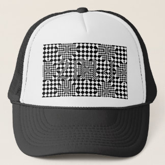 Checkered Illusion by Kenneth Yoncich Trucker Hat