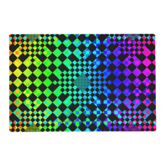 Checkered illusion placemat
