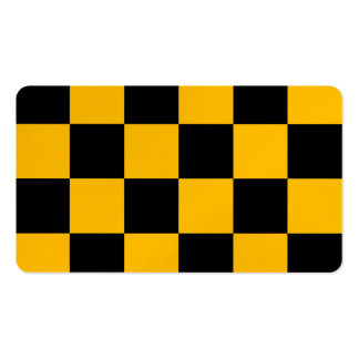Checkered Large - Black and Amber Pack Of Standard Business Cards