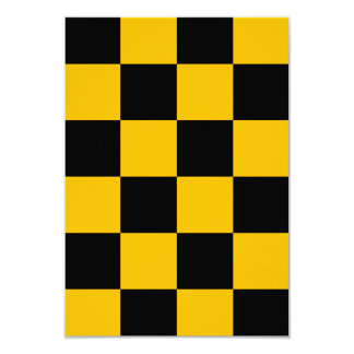 Checkered Large - Black and Amber Card