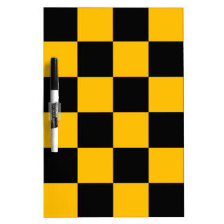 Checkered Large - Black and Amber Dry-Erase Board