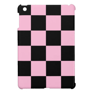 Checkered Large - Black and Cotton Candy iPad Mini Cases
