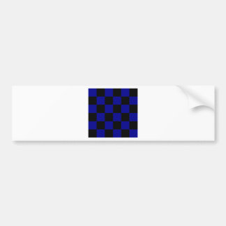 Checkered Large - Black and Dark Blue Bumper Sticker
