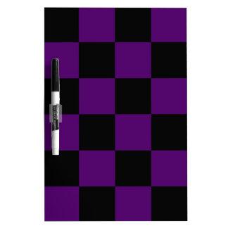 Checkered Large - Black and Dark Violet Dry-Erase Board