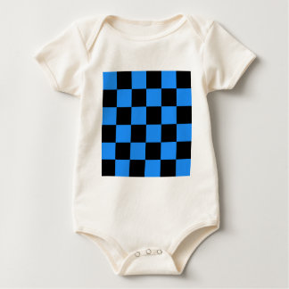 Checkered Large - Black and Dodger Blue Baby Bodysuit