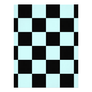 Checkered Large - Black and Pale Blue Letterhead