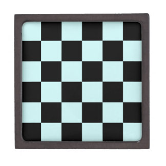 Checkered Large - Black and Pale Blue Premium Gift Boxes
