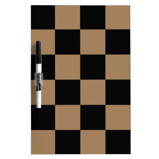 Checkered Large - Black and Pale Brown Dry Erase Board