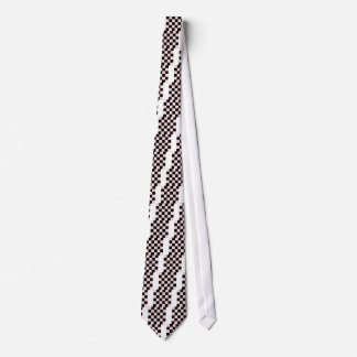 Checkered Large - Black and Pale Pink Neck Tie