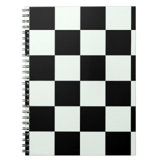 Checkered Large - Black and Pastel Green Note Book