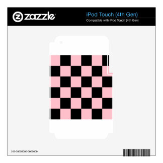 Checkered Large - Black and Pink iPod Touch 4G Skins