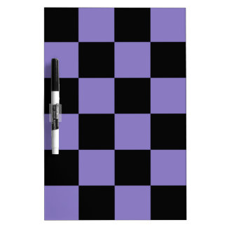Checkered Large - Black and Ube Dry Erase Board