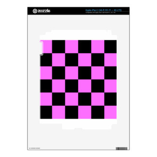 Checkered Large - Black and Ultra Pink iPad 3 Skin