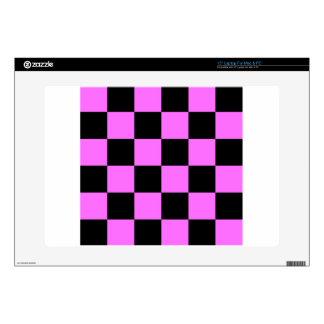Checkered Large - Black and Ultra Pink Laptop Decals