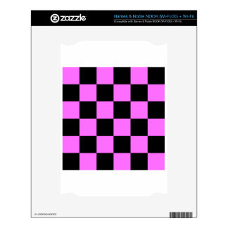 Checkered Large - Black and Ultra Pink NOOK Skins